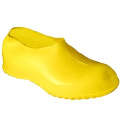 Workbrutes Hi-Top Overshoe Cleated Outsole PVC Boot - Yellow - Sz: Medium
