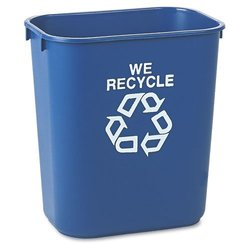Rubbermaid Commercial Medium Deskside Recycling Container - Blue