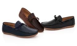 Franco Vanucci Men's Driver Shoes - Brown - Size: 8.5M