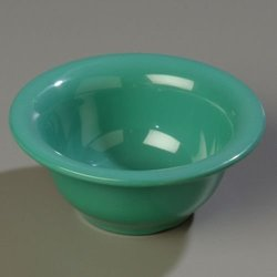 Carlisle 9.6 oz. Green Durus Rimmed Nappie Bowl - Case of 24