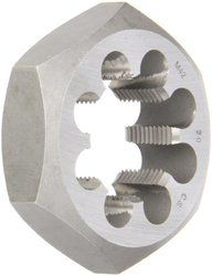 Drill America DWT Series Qualtech Carbon Steel Hex Threading Die, M42 x 2 Size (Pack of 1)
