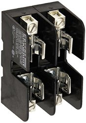 Mersen 60307SJ Class J Spring Reinforced Fuse Block with Box Connector, #2-14 Al/Cu Wire Size, 30 Ampere, 2 Pole