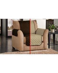Amrapur Waterproof Furniture Slipcover - Chocolate/Natural - Size:Armchair