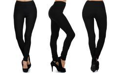 Amazon Women's Seamless Cotton Leggings - Black - Size: 12