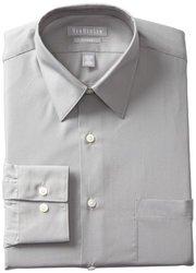 Van Heusen Long Sleeve Fitted Dress Shirt Grey Stone 16 Nk 32-33 Sl