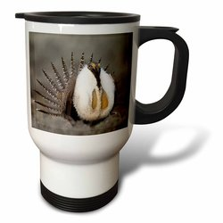 3dRose Greater Sage Grouse Bird Stainless Steel Travel Mug - 14 Ounce