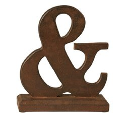 Wilco Imports Deep Brown Colored Wooden and Table Art