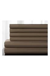 Elite Home Delray Cotton Rich Sheet 6 Pc Set - Ivory -Size:California King