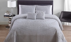 VCNY Hilltop 5PC Bedspread Set - Grey - Size: King