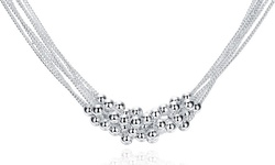 Rubique Jewelry Women's Sterling Silver Bubble Necklace