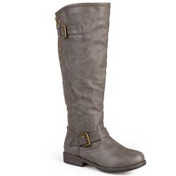 Journee Collection Women's Spokane Knee-High Boots - Taupe - Sz: 7.5B(M)US