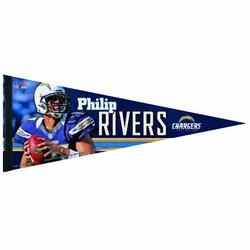 NFL San Diego Chargers Phillip Rivers 12 by 30-Inch Premium Quality Pennant