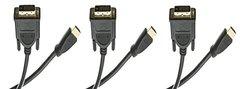 C&E 25' CL2 HDMI Male to DVI Male Cable - 3-Pack (CNE462054)