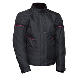 Bilt Women's Lottie Waterproof Motorcycle Jacket - Black/Pink - Size: XS