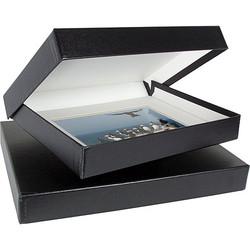 """Archival Methods 14.25""""x18.25""""x2"""" Onyx Portfolio Box - Black/White Lining"""