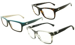 EA 3055 Eyeglasses, Grey Rubber