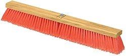 """Carlisle 3610223624 Flo-Pac Juno Style Hardwood Block Sweep, Polypropylene Bristles, 36"""" Length, Orange (Case of 6)"""