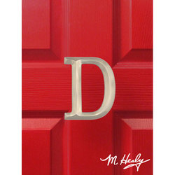 "Michael Healy Designs Brushed Nickel Letter ""D"" Monogram Door Knocker"