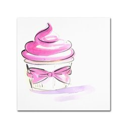 "Trademark Fine Art ""Cupcake 4"" Canvas Art by Jennifer Lilya"