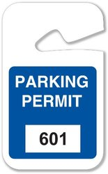 """Brady  96267 2 3/4"""" Width x 4 3/4""""Height, Vinyl, Blue Rearview Mirror Hanging Tags (100 Tags)"""