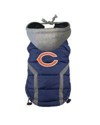Chicago Bears Dog Hoodie Vest Brs Blue