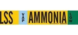 "Brady 59932 Ammonia (IIAR) Pipe Markers, B-681/B-883,Black, White, Sky Blue, Green On Yellow Polyester Over-Laminate On Fiberglass Plastic Carrier, Legend ""Ammonia"""