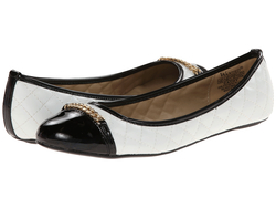 Wanted Women's Cathy Flats - Black/White - Size: 10