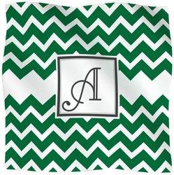 Kess InHouse KESS Original Fleece Throw Blanket, 90 by 90-Inch, Monogrammed Letter A, Chevron Green