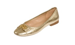 Andrew Stevens Women's Camilla Leather Flats - Gold - Size:6