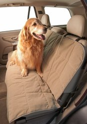 Duragear Rear Bench Car Seat Cover for Pets - Sand