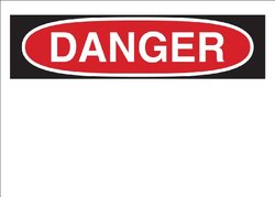 "Brady 65261 Polycoated Tagstock Blank Sign - Preprinted Headers, 7"" X 10"", Legend ""Danger"""