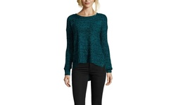 BCBGeneration Women's Long Sleeve Chunky Sweater - Blue - Size: XS