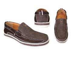 Frenchic Collections Men's Slip-On Loafers - Brown - Size: 12