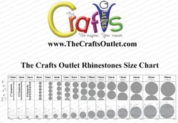 The Crafts Outlet 10000-Piece Flat Back Star Rhinestones, 6mm, Olive Green/Army Green