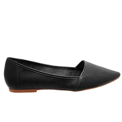 Chelsea Crew Gunner Perforated Slip-On Flat - Black - Size: 5