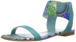 Desigual Women's Trebol Fashion Sandals - Blue - Size: 8.5