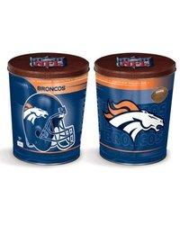 NFL 9301841 Denver Broncos Tapered Gift Tin, 3 gallon