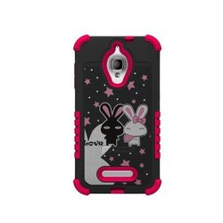 Beyond Cell Duo Shield Hard Shell for Alcatel OneTouch - Love White/Pink