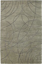 2-1/2' X 8' Avant-Garde Hand-Knotted New Zealand Wool Area Rug - Gunmetal