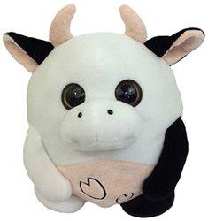 "GabiToy 10"" Size Round Friend Plush Toy - Cow"