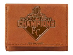 MLB Kansas City Royals 2015 World Series Embossed Trifold Wallet - Tan
