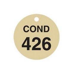 Brady 23664, Stamped Brass Valve Tags (Pack of 10 pcs)