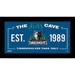 "Steiner Sports NBA Kids 10x20"" Minnesota Timberwolves Cave Sign"