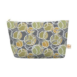 "Kess InHouse Everything Bag, Tapered Pouch, Julia Grifol ""Simple Circles in Grey"", 8.5 x 4 Inches (JG1028AEP03)"