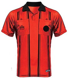 Admiral Short Sleeve Pro Soccer Referee Jersey, Scarlet/Black, Adult 3X-Large