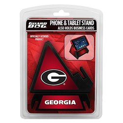 NCAA Georgia Bulldogs Pyramid Phone Stand for Smartphones/Tablets -Red/Blk