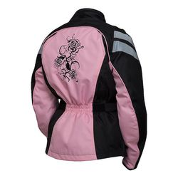Bilt Connie Women's Waterproof Motorcycle Jacket - Pink/Black - Size:S