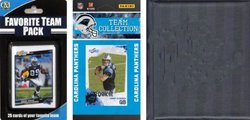 C & I Collectables 2010PANTHERSTSC NFL Carolina Panthers Licensed 2010 Score Team Set and Favorite Player Trading Card Pack Plus Storage Album