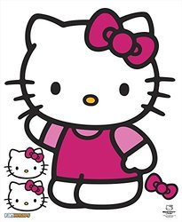 """Hello Kitty Waving Hello Kitty Character & Accessories PVC Decal & Novelty, 13 by 15"""""""