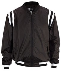 Smitty Men's College Style Polyester Shell Jacket - Black/White - Size: L